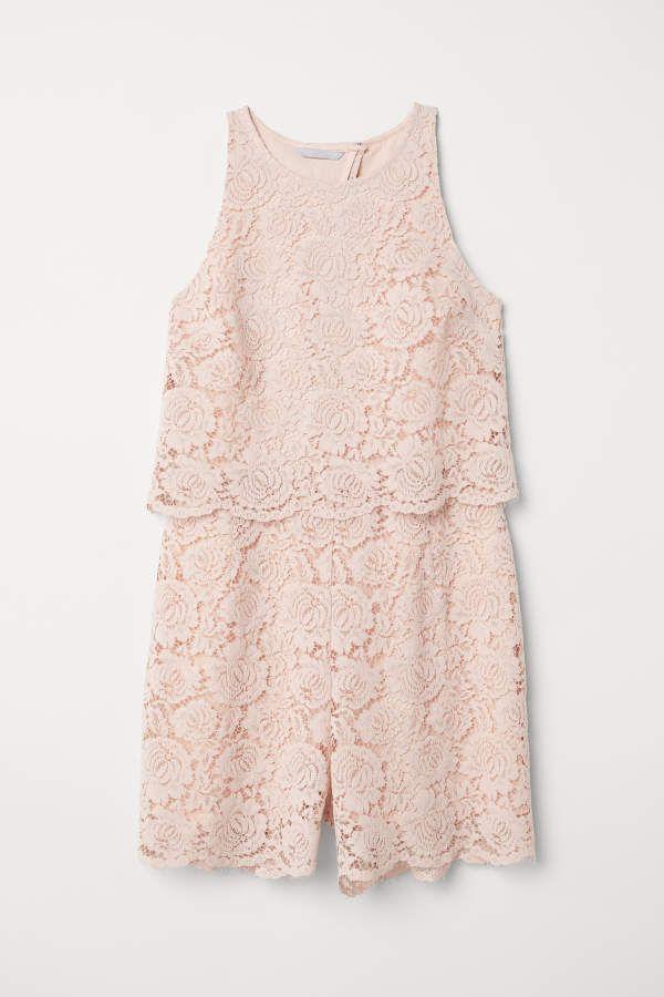 8bc8719932053 H M H   M - Lace Jumpsuit - Powder pink - Women
