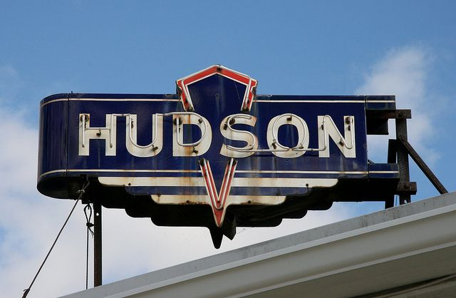 Ypsilanti has awesome signs - and this sign for Hudson Automobile is splendid!