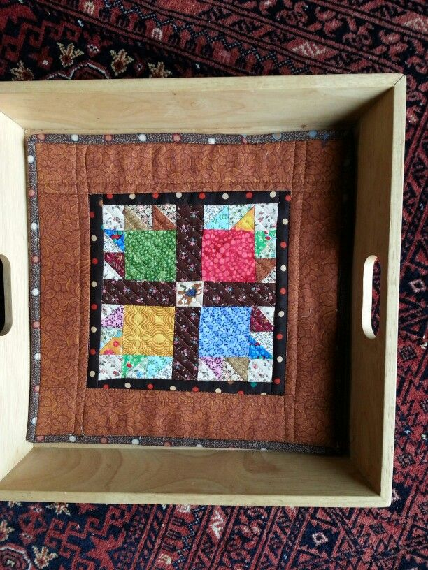 Quilt for square serving tray