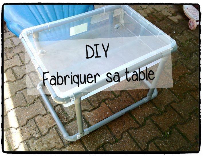 fabriquer sa table d'activités, bac sensoriel, diy