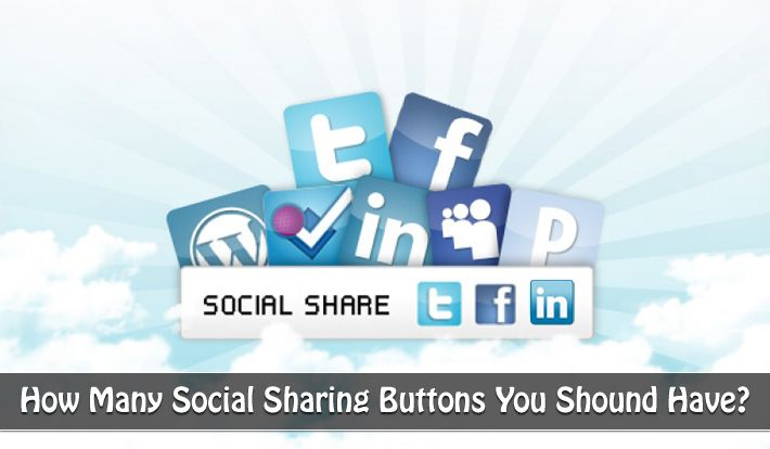 Get to know which social sharing buttons works for you the most and keep only those buttons for increased social shares and web massive traffic.