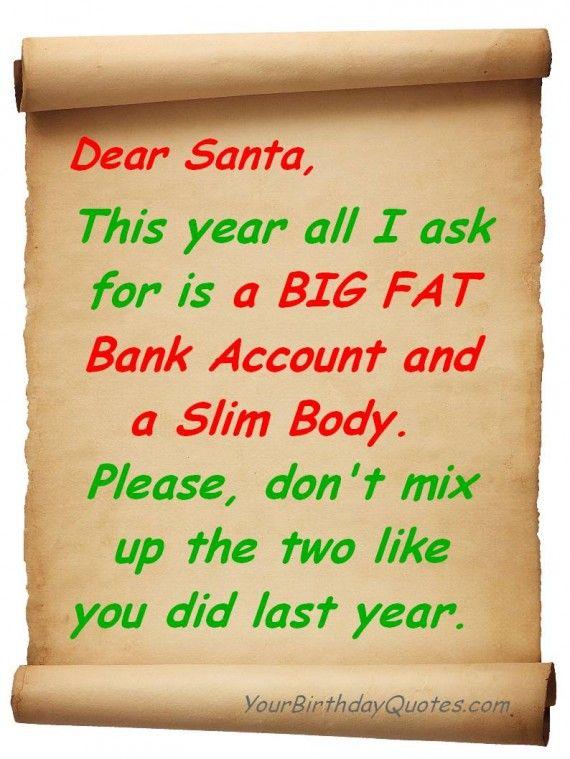 Funny Christmas List For Santa