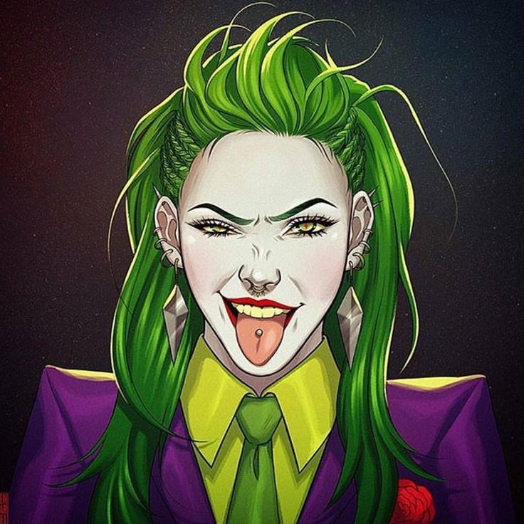 "3 Likes, 1 Comments - @83joker on Instagram: ""Artist @heyjenbartel  She Joker.  #theclownprincessofcrime #joker #art"""
