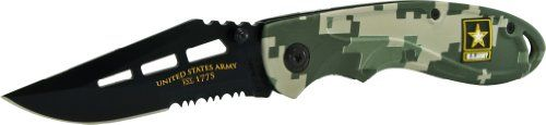 Special Offers - U.S. Army ARMY2CS Linerlock Knife Black Clip Point 40% Serrated Blade and MARPAT Camo Handle - In stock & Free Shipping. You can save more money! Check It (November 12 2016 at 09:27PM) >> http://huntingknivesusa.net/u-s-army-army2cs-linerlock-knife-black-clip-point-40-serrated-blade-and-marpat-camo-handle/