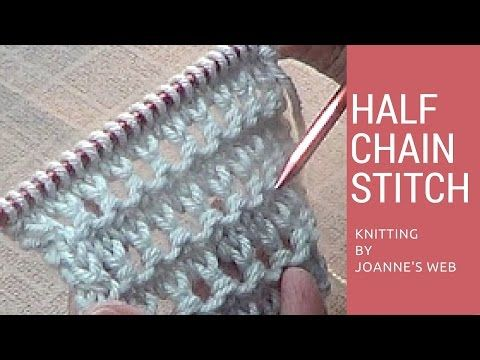 Half Chain Stitch - YouTube