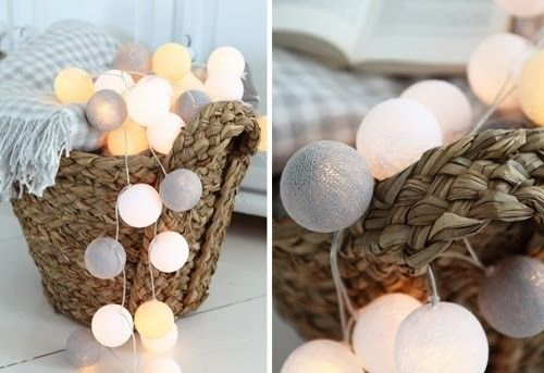 Cotton Ball Lights :: Canoe 50 kul Canoe 50 kul   POMYSŁ NA PREZENT OŚWIETLENIE \ sufitowe DODATKI \ Dekoracje świetlne DLA DZIECKA OŚWIETLE...