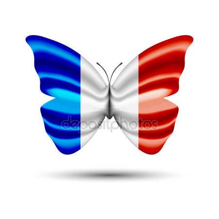 France flag butterfly — Stock Vector © jackreznor #140490650