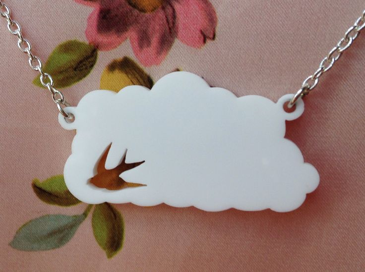 Swallow cloud necklace