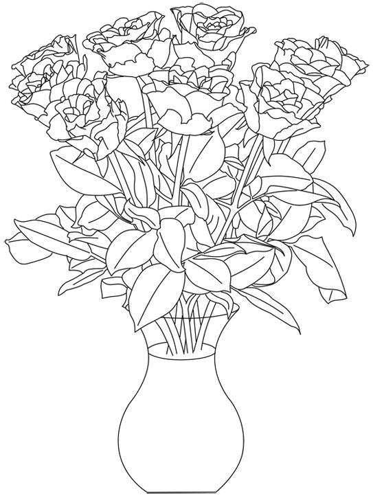 Best 30 DRAWING FLOWER BOUQUET images on Pinterest | Painting on ...