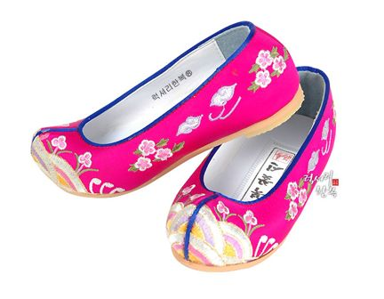 Girl's Pink Hanbok Shoes
