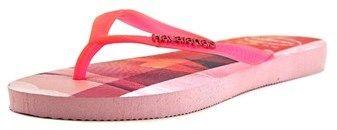 Havaianas Slim Paisage Women Open Toe Synthetic Multi Color Flip Flop Sandal.