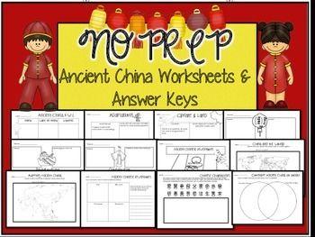 No prep worksheets on Ancient China!