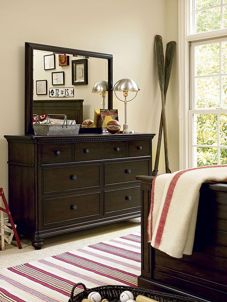 paula deen guys vertical mirror and drawer dresser