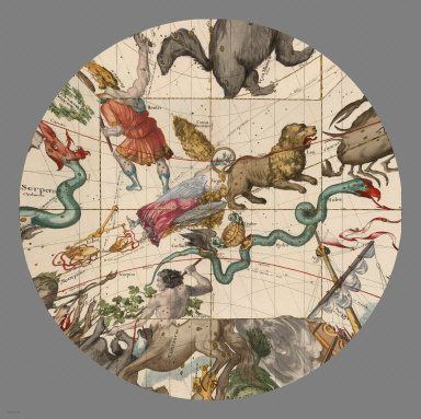 David Rumsey Historical Map Collection | Mapping the Heavens in 1693. Plate 4 (Autumnal Equinox)