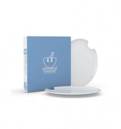 Tassen set van 2 borden met hap er uit Ø 20 cm
