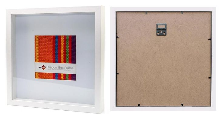 These hard-to-find picture frames and photo frames are both Square Picture Frames and Shadow Box Picture Frames. The frame is made from Wood composite