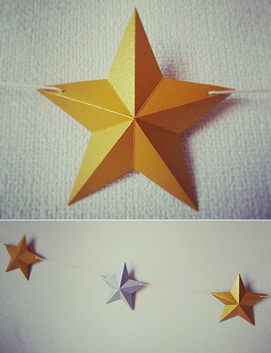 立体星で作るガーランド