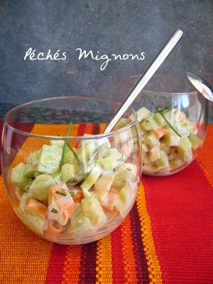 Salade de concombre au surimi