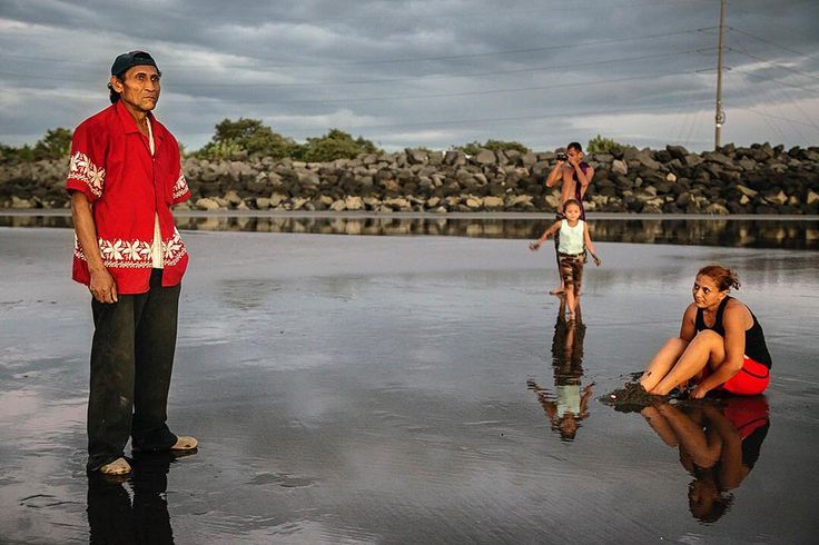 Sneak peak of the work I'll be exhibiting in #Perpignan, #France for the @visapourlimage festival this week. Antonio Arsenio Rivera pauses to reflect on the beach with his family at Puerto Corinto beach near Chichigalpa, #Nicaragua. Both Rivera and his son Walter suffer from #ChronicKidneyDisease. #visapourlimage #visapourlimage2017 #photojournalism #documentary #reportage #edkashi #viiphoto #CKD #CKDu #CKDnT @viiphoto