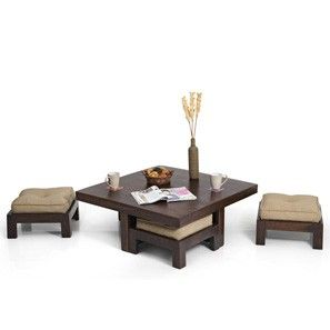 Kivaha Coffee Table Set (Walnut Finish)