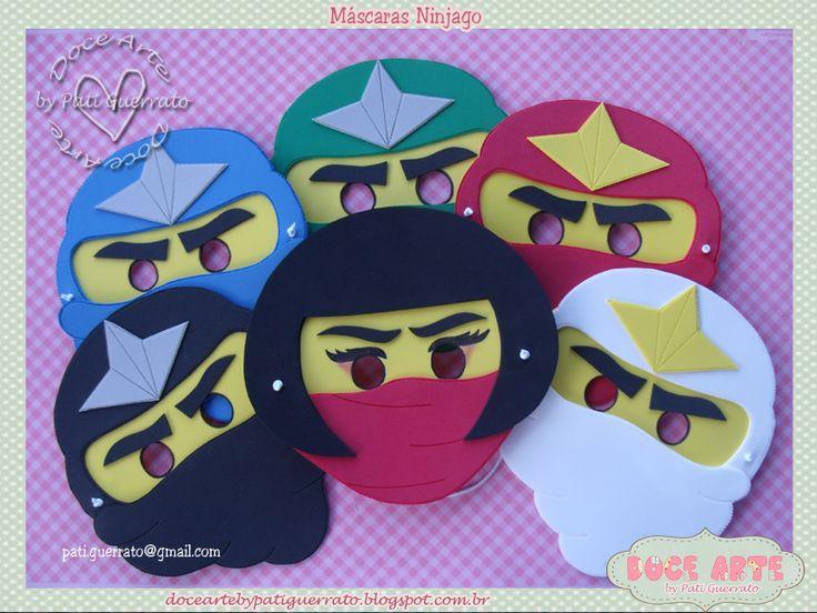 Doce Arte by Pati Guerrato: Ninjago - Máscaras para a criançada!!
