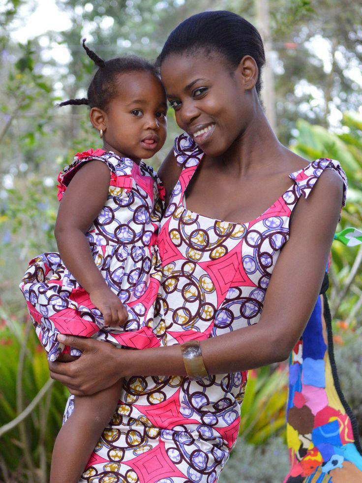 Polly Dress & Nadine Dress kitenge africa dress