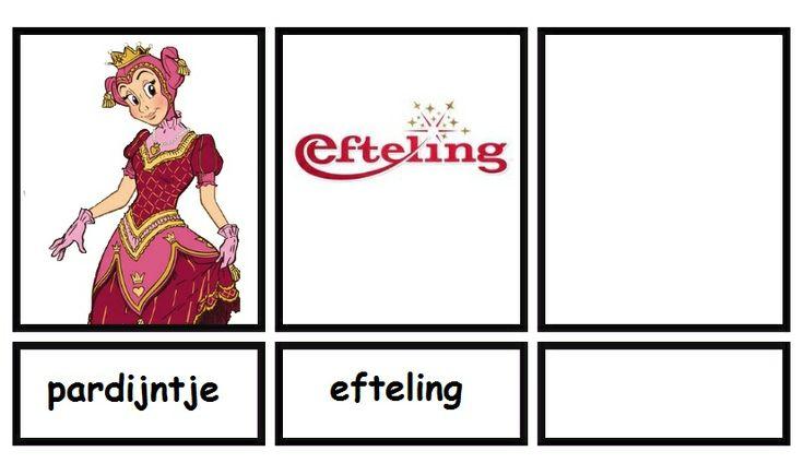 Woordkaarten Efteling deel 7