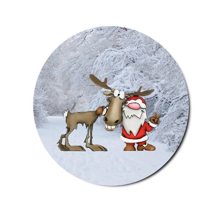 Santa Claus and Reindeer Doormat