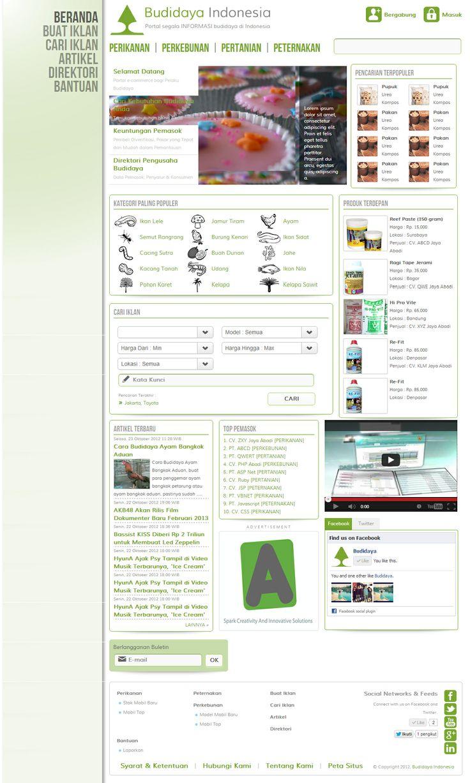 Website Portal - Budidaya Indonesia #WebDesign #WebDevelopment #BudidayaIndonesia #Jasa_Pembuatan_Website #WebCorporate