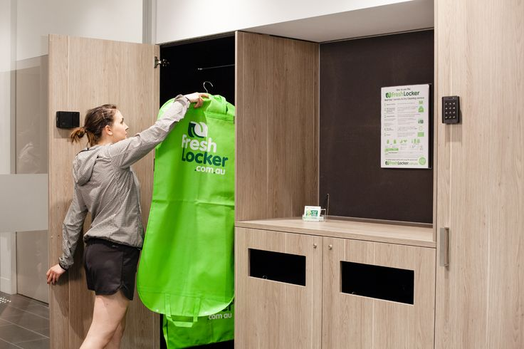 FRESH LOCKER STATION - A backpack full of dirty laundry makes a healthy commute not so fun. That's why we've created Fresh Locker Stations! #makecyclingeasy #cycling #endoftrip