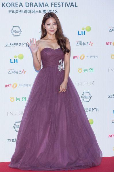 South Korean singer BoA Kwon arrives for photographs at 2013 Korea Drama Awards at Jinju Arena on October 02 2013 in Jinju South Korea