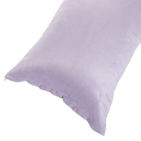 Body Pillow Cover Soft Micro-Suede or Sherpa Pillowcase with Zipper Fits Pillows