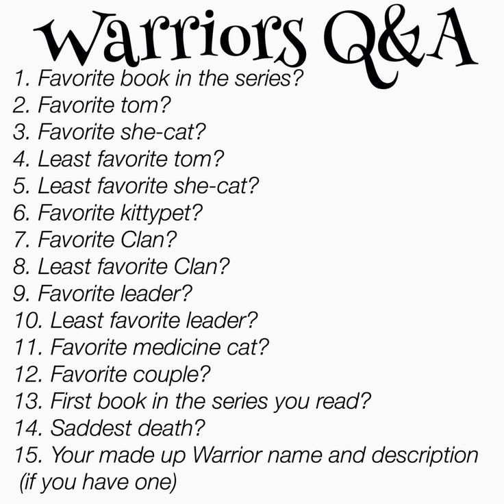1. I gotta say Bluestar's Prophecy or Twilight 2. Firestar