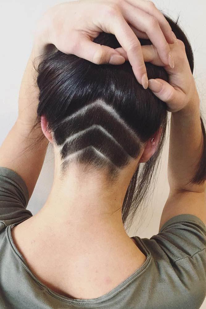 undercut girl hairstyle long