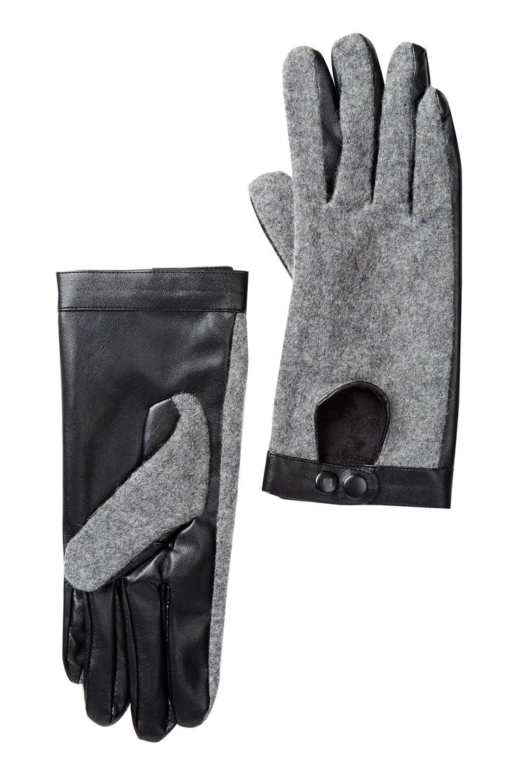 Leather driving gloves macys - David Young Button Snap Gloves