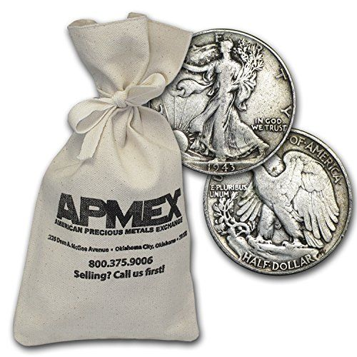 1916 - 1947 90% Silver Walking Liberty Half-Dollars $500 Face-Value Bag Half Dollar Very Good -- You can get more details by clicking on the image.