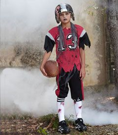 zombie football player boys costume - Your position on the football team isn't tight end, but dead end.