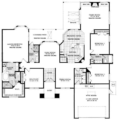 contemporary florida mediterranean house plan 63297
