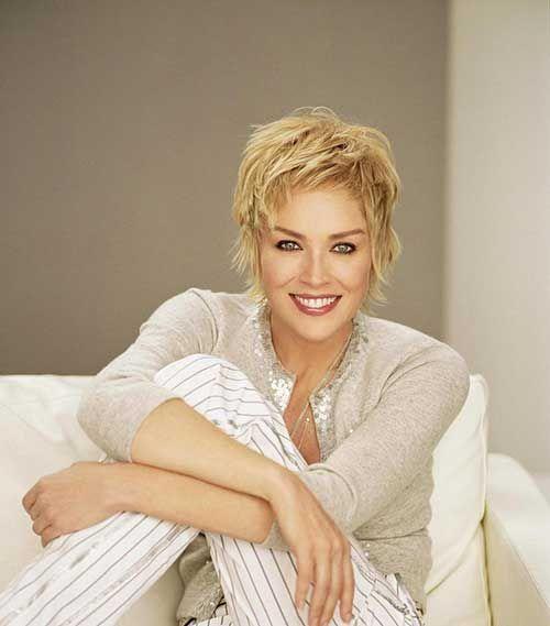Sharon Stone Layered Pixie