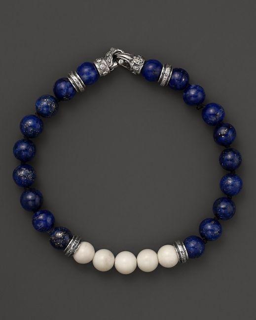 Scott Kay Lapis and Bone Beaded Bracelet  #yingyeng #yingyengstyle #manfashion yingyeng.com