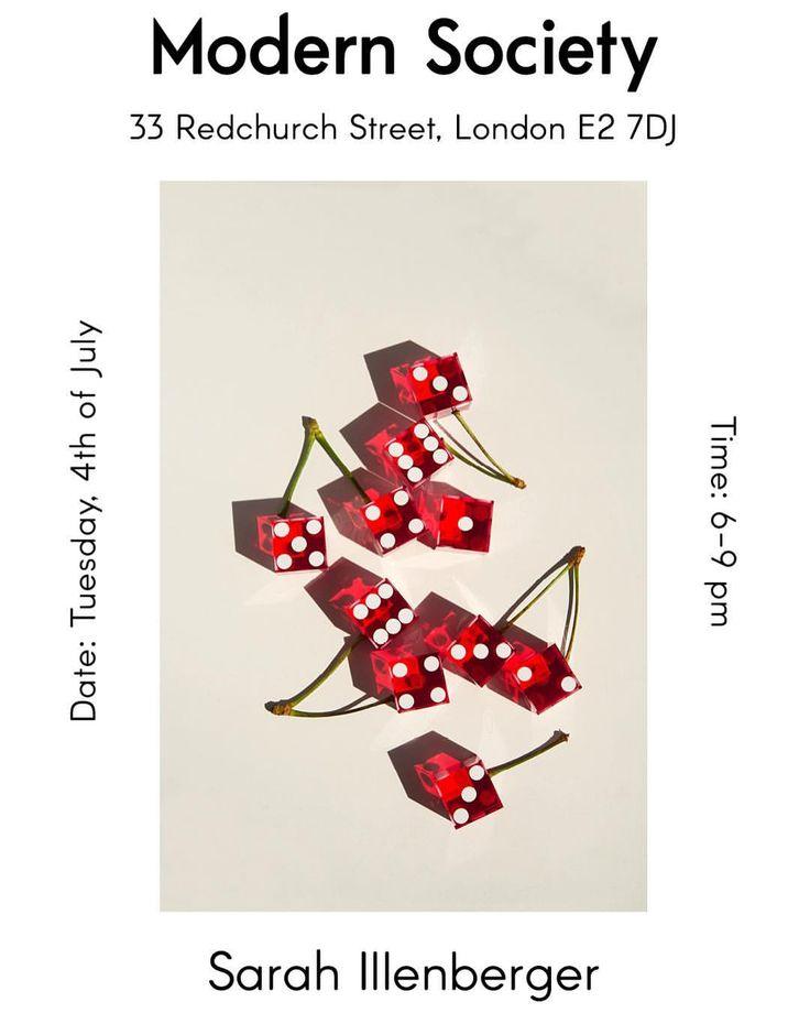466 vind-ik-leuks, 11 reacties - Sarah Illenberger (@sarahillenberger) op Instagram: 'Hello London! exhibition from next Tuesday at @modern_society_london'