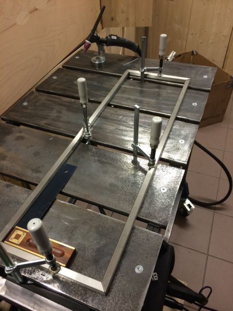 Self made welding table