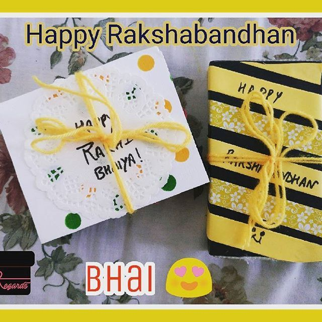 Happy Rakshabandhan! With Regards  #rakshabandhan #rakhi #festival #celebrations #gifts #diygifts #brolove #brosis #sweets #packaging #creative #regards #minirakhibox