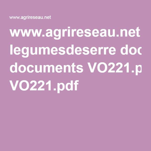 www.agrireseau.net legumesdeserre documents VO221.pdf