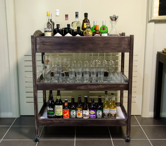 Converted Bar Trolley Table, made from an old baby nappy/change table