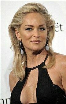 Hair color. Sharon Stone
