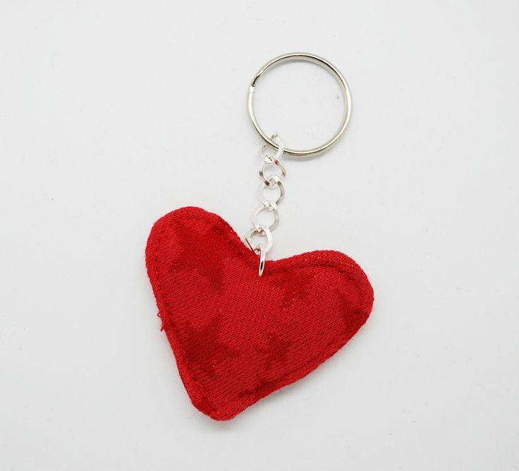 Heart key chain, red, Leonora