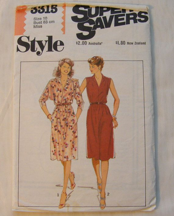 Easy Dress Pattern Autumn Dress Style 3315 by SuesUpcyclednVintage