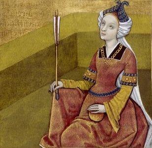XXXVII-Hélène de Troie, fille de Tyndare et épouse du roi Ménélas (HELEN, wife of King Menelaus) -- Giovanni Boccaccio (1313-1375), Le Livre des cleres et nobles femmes, v. 1488-1496, Cognac (France), traducteur anonyme. -- Illustrations painted by Robinet Testard -- BnF Français 599 fol. 30 -- See also at: https://commons.wikimedia.org/wiki/File:H%C3%A9l%C3%A8ne_BnF_Fran%C3%A7ais_599_fol._30.jpg