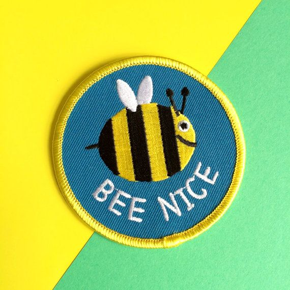 Ape bella Patch, ferro carina su Patch ricamato, Bumble Bee Patch, felice natura Patch, Patch di insetto, blu Patch, patch di divertimento, Ciao DODO